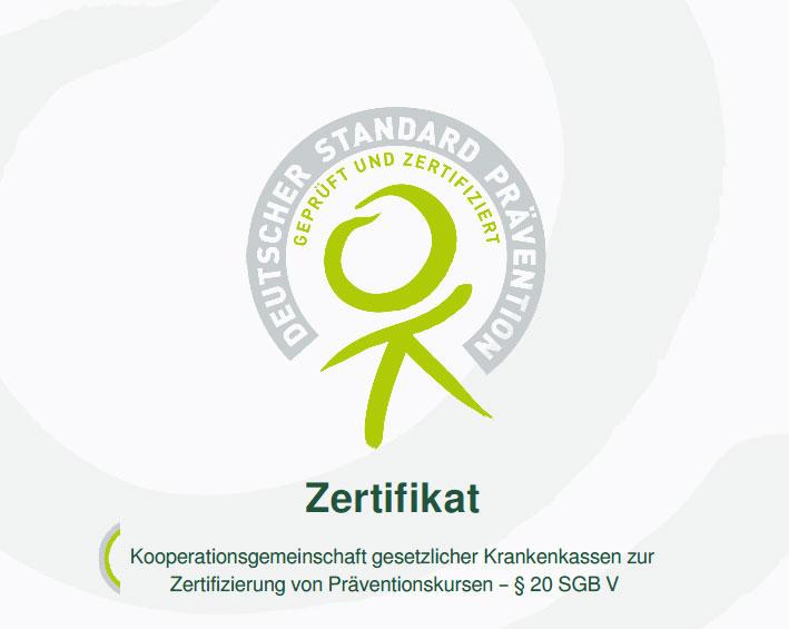 Zertifizierung von Präventionskursen - § 20 SGB V